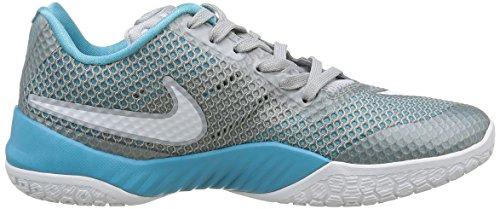 Nike Herren Hyperlive Basketballschuhe Grau (Wolf Grey / White-Cl Grey-Omg Bl)