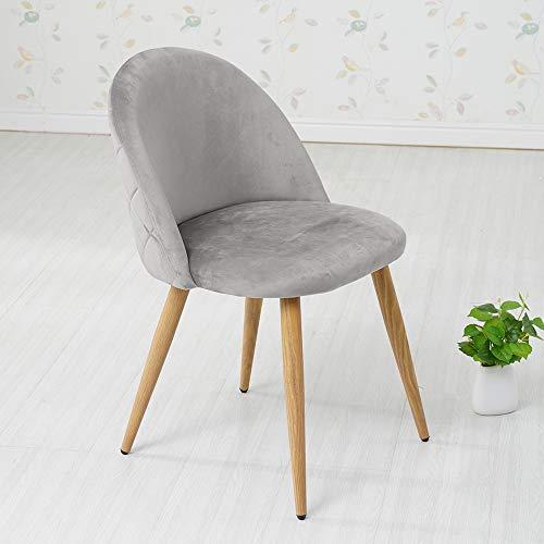 TUKAILAI 4X Stühle Esszimmerstuhl Grau - Stuhl Esszimmerstühle Homewares Stuhl für Küche, Büro, Lounge, Retro Konferenzzimmer, Polsterstuhl Esstisch Stühle Polstersessel