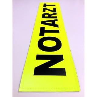 NOTARZT 3M Rückenschild 38x8cm Zitronengelb