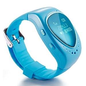 oneConcept Kids Guards Uhr Smartwatch für Kinder mit GPS Tracking Digital (Lokalisation, Telefonie bidirektional, 3Zahlen für SOS) Türkis