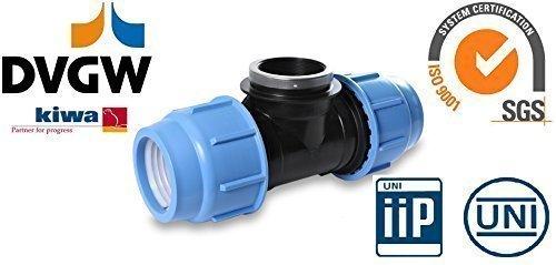 Tube PE Pièce en T PP Divers vis Tuyaux 16, 25, 32, 40, 50, et 75 mm Filetage intérieur 16 DVGW certifié - 40 mm x 1 1/2 \