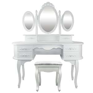 schminktisch frisiertisch mari 3 spiegel 3 schwenkbar. Black Bedroom Furniture Sets. Home Design Ideas