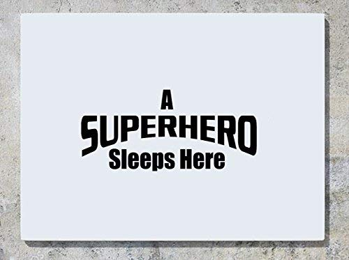 (Ein Superheld Schläft Hier Logo Wanddekoration Aufkleber Bild Andere Größen Erhältlich Kariert Angebote)