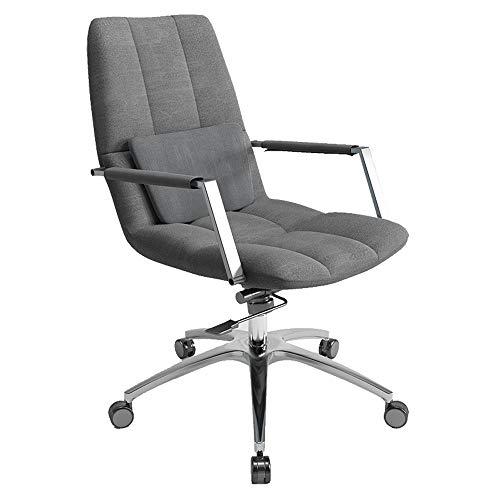 YLYWCG Recliner Gaming-Drehstuhl Mit Hoher Rückenlehne, Computer-Stuhl Aus Stoff, Bürostuhl Executive, Ergonomischer Stuhl, Computer-Stuhl, Bürostuhl, Grau -