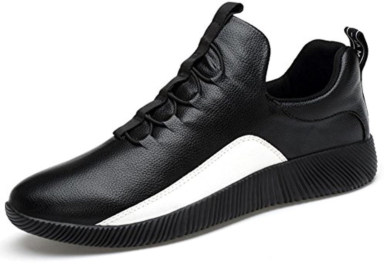 Mens / Boys Leder Sneaker Mode Casual Sportschuhe Leicht und leicht zu tragen Elastische Band Loafer Schuhe