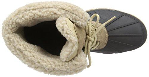 Spirale Tina, Bottes en caoutchouc à tige basse et doublure chaude femme Beige (beige 19)