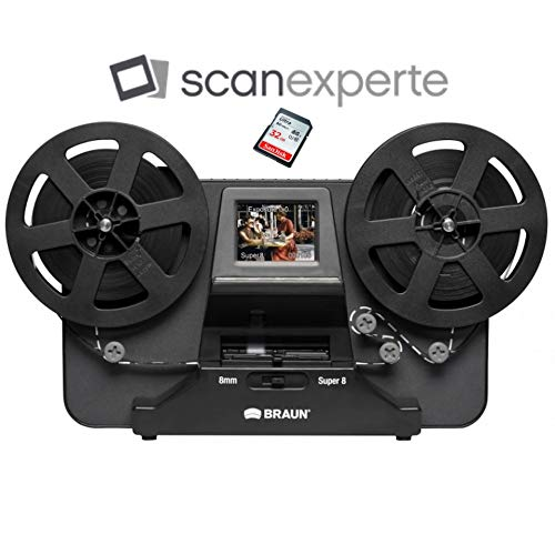 Reflecta Super 8 - Normal 8 Film Scanner inkl. 32 GB SD Karte und Scanexperte-Videoanleitung - Hd-film-kamera