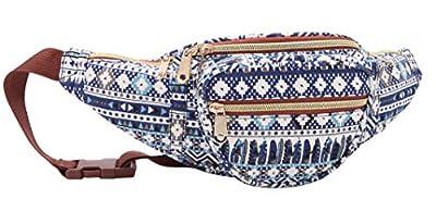 Jazzi - Sacoche/sac banane en toile - motifs imprimés - Petit