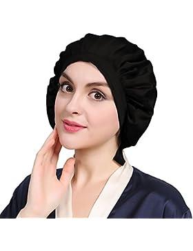 LILYSILK Seide Schlafmütze Atmungsaktive Nachtmütze Kopfbedeckung mit klassischer und bequemer Form