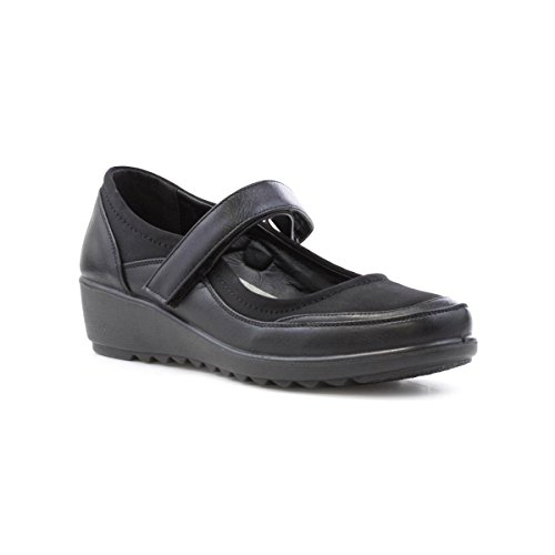 Cushion Walk Womens Black Wedge Comfort Shoe - Size 8 UK -...