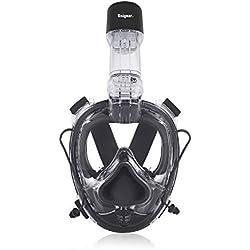 Unigear Masque de Plongée, Masque Snorkeling, Antibuée Anti-Fuite sous-Marine, Snorkel Masque (Noir)