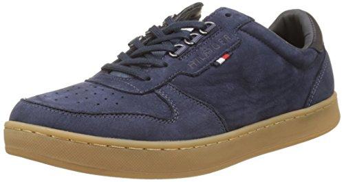Tommy Hilfiger Herren H2285OXTON 1N Sneakers, Blau (Vintage Indigo), 46 EU (Haut-leder-schuhe)