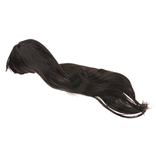 en Lockigen Haaren Flauschigen Wellige Perücken Dunkelbraun - Schwarz, XL (Schwarzen Lockigen Perücke)