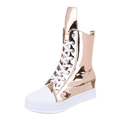 Ital-Design - Pantofole a Stivaletto Donna ORO rosa