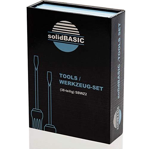 solidBASIC - SBWZ2 - Tragbares Universal Feinmechaniker Werkzeug-Set magnetisch - für Smartphone- / Tab- / Camera- / Laptop- / Uhren- / Computer- / Drucker-Reparatur - 38 Teile