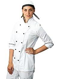 Amazon.it  Donna Cuoco - Bianco   Abbigliamento da lavoro e divise    Abbigliamento specific...  Abbigliamento c939cb6f35d3