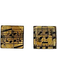 The Olivia Collection Gents Silvertone Sheet Music Notes Cufflinks FJ1292