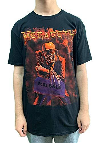 Megadeth - Camiseta - para Hombre Negro Negro Large