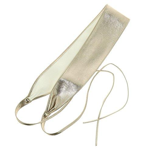 Fashiongen - Damen Taillengürtel Breiter Wickelgürtel MICA - Golden Rosa gold, L-XL