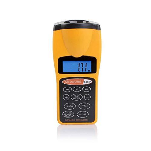 Huihuiya CP-3007 Multifunktionales LCD-Ultraschall-Entfernungsmessgerät - Entfernungsmesser-Gelb und Schwarz