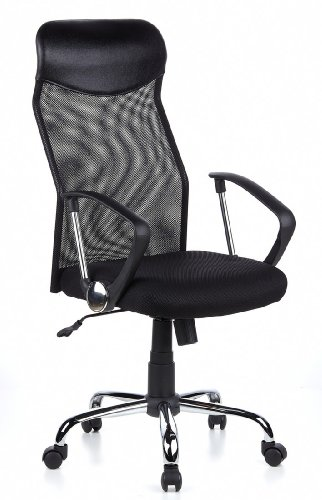 HJH OFFICE 634000 FUTURA 2200 - SILLA DE OFICINA  COLOR NEGRO/METAL