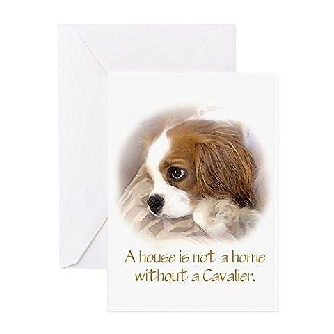 CafePress - Cavalier King Charles Spaniel Greeting Card - Greeting
