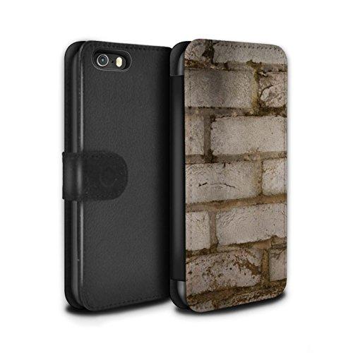 Stuff4 Coque/Etui/Housse Cuir PU Case/Cover pour Apple iPhone 5/5S / Silex / Pierre Design / Maçonnerie Collection Pâle/Blanc