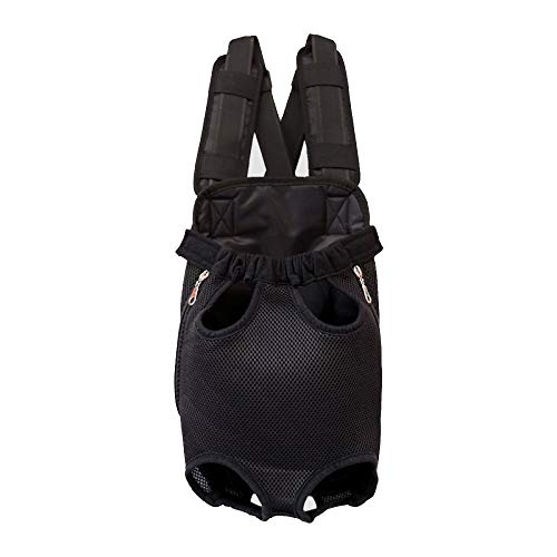 JXJL Transportbox-Rucksack Verstellbare Sichere Hundehandtasche Leicht Aus Der Hand Für Unterwegs Wandern Camping,Black-L -
