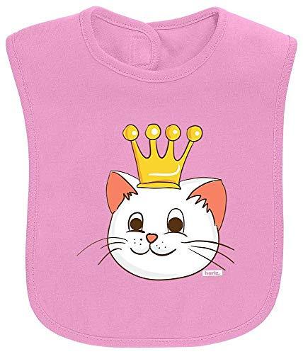 Kostüm Kinder Prinzessin Bubblegum - HARIZ Baby Lätzchen Katze Prinzessin Mit Krone Süß Tiere Dschungel Inkl. Geschenk Karte Bubblegum Pink