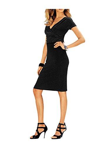 Heine robe pour femme avec drapierungen noir Noir - Noir
