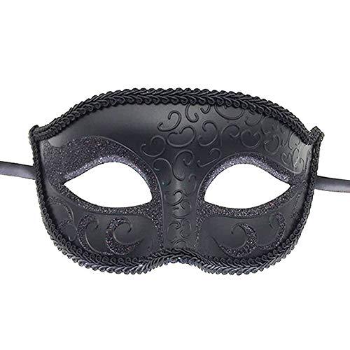 Ouinne Maskerade Maske Schwarze Venezianische Fasching Verkleidung Masquerade Kostüm Ball Halloween für Herren und Damen