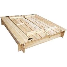 HABAU 3022 caja de arena con tapa y un banco, 120x120x20 cm