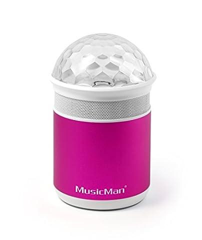 MusicMan 4551 Disco Bluetooth Soundstation BT-X17, Lautsprecher mit Freisprechfunktion und Disco-Lichteffekten