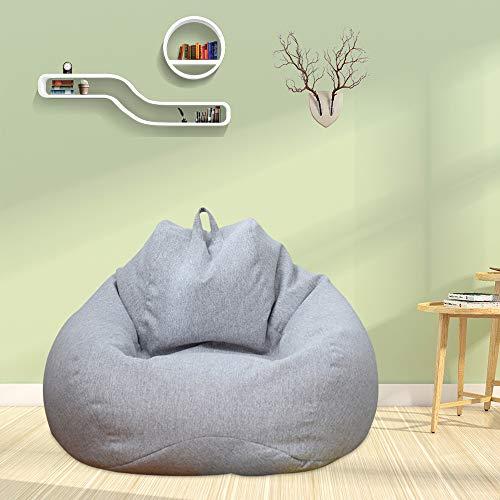 Iraza Puff Funda de Bean Bag,Kit de Sillónes de Hinchables de Adulto Infantil para Sala Dormir (Gris, 80_x_70_cm)