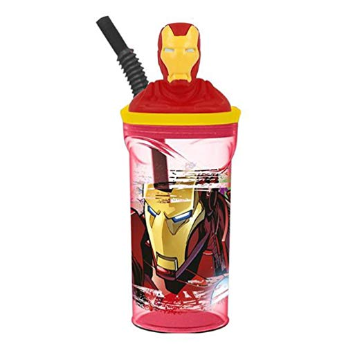 Boyz Toys St395 Figurine 3D gobelets - Iron Man, Rouge