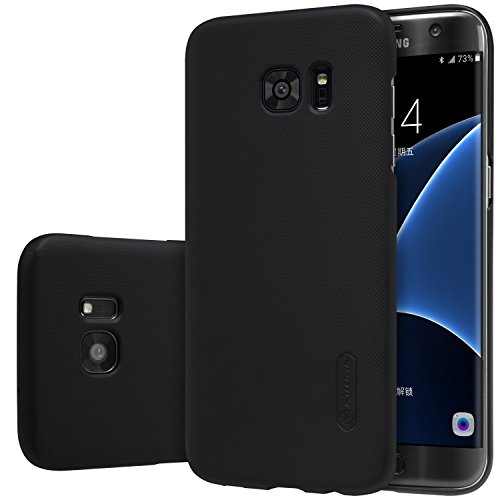 Nillkin-Plastic-Slim-Case-Cover-For-Galaxy-S7-Edge-Case-With-Screen-Protector-Frosted-Black