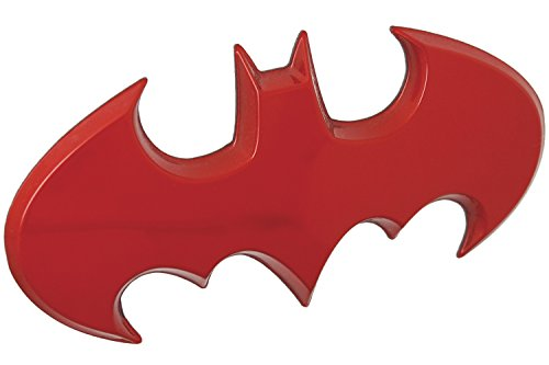 Fan Emblems Batman Batwing Logo 3D Auto Emblem Rot Chrom, DC Comics Automotive Aufkleber Abzeichen Flexes vollständig an Autos, Lastwagen, Motorräder, Laptops, Windows, fast alles zu haften