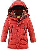 Kinder Winterjacke Lang Wintermantel mit Kapuze Junge Baby Steppjacke Parka Outerwear 5-15 Jahre