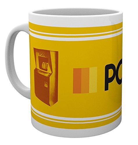 PQube Pong Mug, Porcelain, Yellow