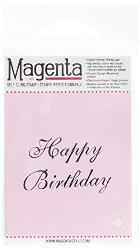 Magenta 1-Piece 1,75 x 1 pollice aderisce Francobolli Buon compleanno - Francobolli Magenta Cling