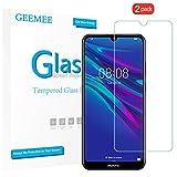 GEEMEE pour Huawei Y6 2019 Verre trempé [2 Pack], Ultra Clair 9H Crystal Clear Film Protection Ecran en Verre Trempé, Anti - Rayures Verre trempé pour Huawei Y6 2019 (Transparente)