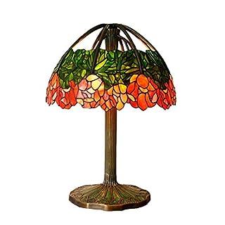 Voller Kupfer Tiffany Style Tischlampen 20-Zoll-Glasmalerei Lily Tischleuchte Antik Collection Lampen Wohnzimmer Schlafzimmer Nachttischlampen Dekoration
