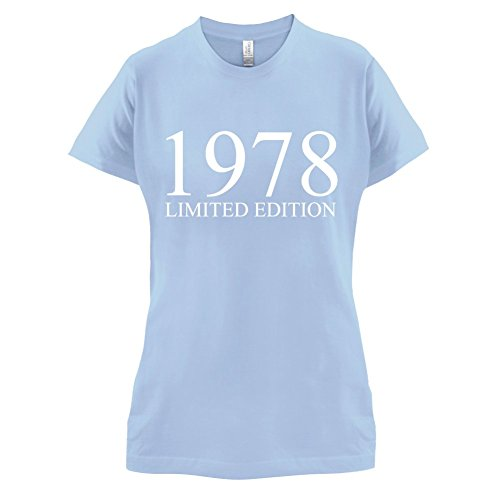 1978 Limierte Auflage / Limited Edition - 39. Geburtstag - Damen T-Shirt - 14 Farben Himmelblau