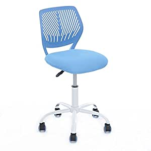 Aingoo Home Office Task Computer Chairs Mid Back Swivel Adjustable For Children Kids Study Blue