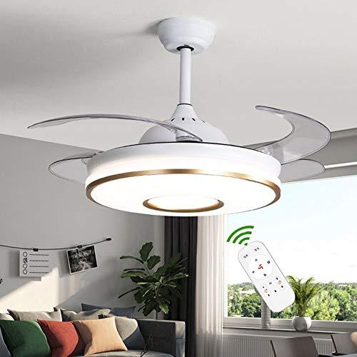 LAMP-XUE Techo Moderno Ventilador Invisible Light Ventilador con Luz de Techo a Distancia de Control...