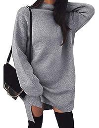 Minetom Damen Pullover Kleider Mode Minikleid Winterkleider Strickkleider  Langarm Warm Oversize Stricksweat Strickpullover… 18e5ee9a4f
