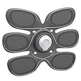 Guowy Intelligente Strumento Addominale Pigro Muscolo Addominale Ricarica Bluetooth App Addominale EMS Fitness Muscolo Trainer Strumento Addominale,White