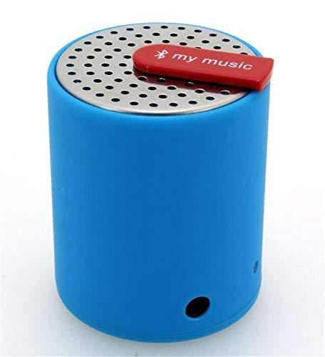 Altavoz Bluetooth Mini inalámbrico de Sonido cilíndrico de Entretenimiento, Azul