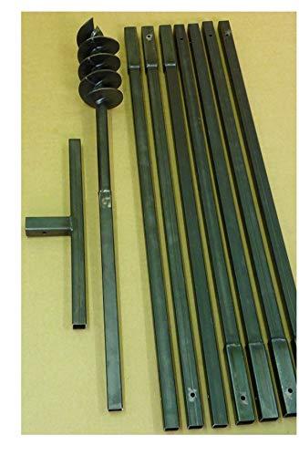 MWS-Apel Erdbohrer Erdlochbohrer Brunnenbohrer Pfahlbohrer 120 mm 8 meter Handerdbohrer