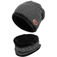 94591ae6936c8 leegoal 2pcs Gorras Invierno Unisex Beanie Crochet Hat para Niños